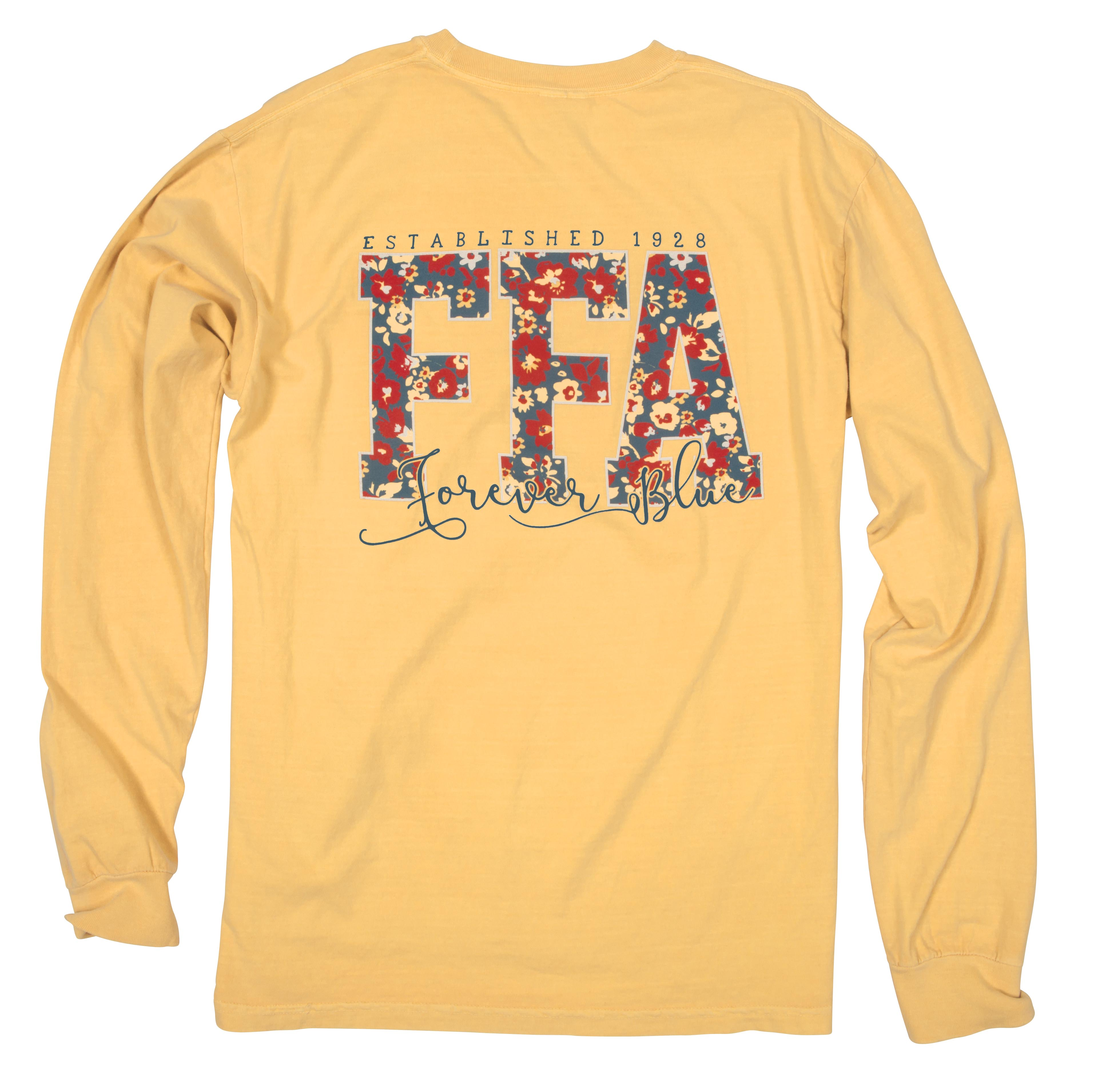 03af25f6 L/S FFA FLORAL LETTERS TEE